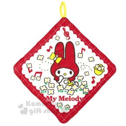 〔小禮堂〕美樂蒂 可掛式棉質擦手巾《紅.花朵》33x33cm.毛巾