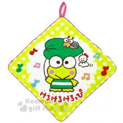 〔小禮堂〕大眼蛙 可掛式棉質擦手巾《綠.站姿》33x33cm.毛巾