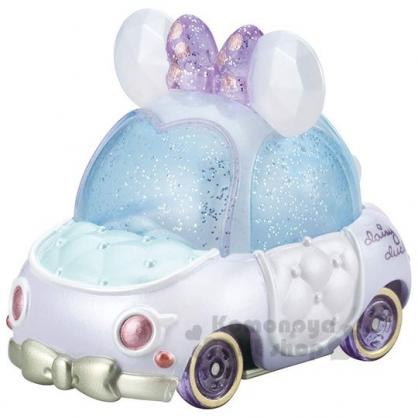 〔小禮堂〕迪士尼 黛西 TOMICA小汽車《紫白.蝴蝶結》公仔.玩具.模型
