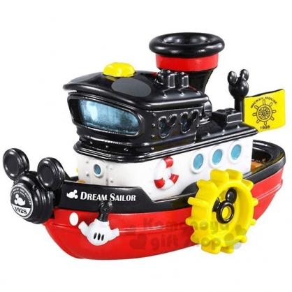 〔小禮堂〕迪士尼 米奇 TOMICA小汽車《黑紅.蒸氣船》公仔.玩具.模型