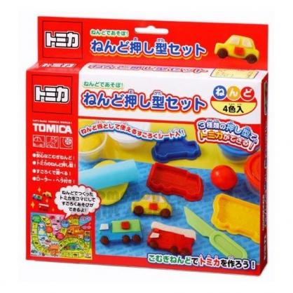 〔小禮堂〕TOMICA小汽車 黏土模具組合《4色.紅盒裝》兒童玩具.美勞玩具