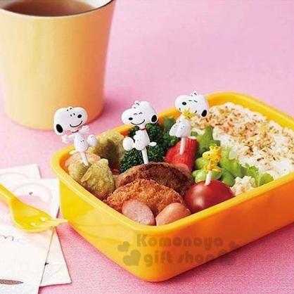 〔小禮堂〕史努比 造型塑膠裝飾叉組《8入.坐姿》水果叉.甜點叉