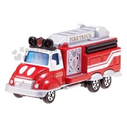 〔小禮堂〕迪士尼 米奇 TOMICA小汽車《DMA-10.紅灰》10週年紀念.公仔.模型.玩具