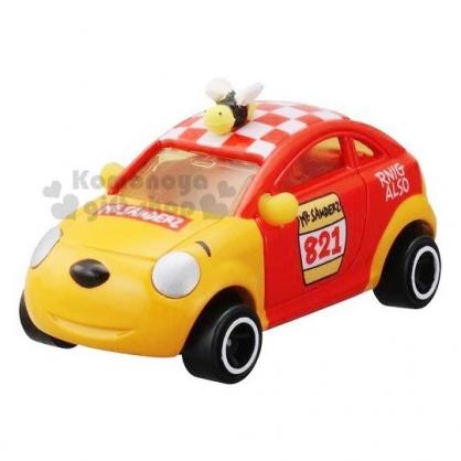〔小禮堂〕迪士尼 小熊維尼 TOMICA小汽車《DMA-02.黃紅》10週年紀念.公仔.模型.玩具