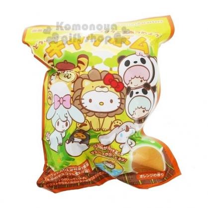 〔小禮堂〕Sanrio大集合 造型入浴球《6款隨機.綠.動物》入浴劑.泡澡球