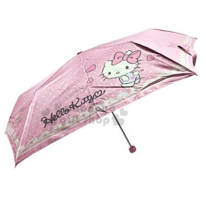 〔小禮堂〕Hello Kitty 折疊雨陽傘《粉.側站.小熊》折傘.雨具.雨傘