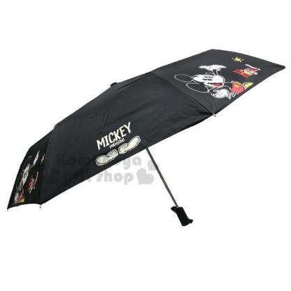 〔小禮堂〕迪士尼 米奇 加大折疊雨陽自動傘《黑.站姿》折傘.雨具.雨傘