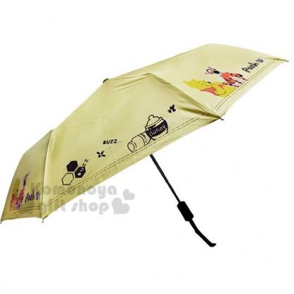 〔小禮堂〕迪士尼 小熊維尼 加大折疊雨陽自動傘《黃.跳跳虎》折傘.雨具.雨傘