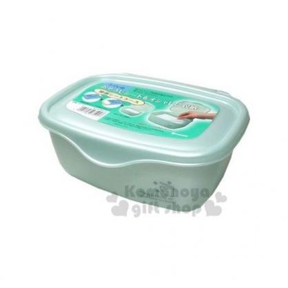 〔小禮堂〕日本INOMATA 日製方型掀蓋收納盒《綠》保鮮盒.面紙盒.紙巾盒