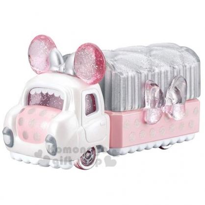 〔小禮堂〕迪士尼 米妮 TOMICA小汽車《粉.蝴蝶結》飾品盒.公仔.玩具.模型