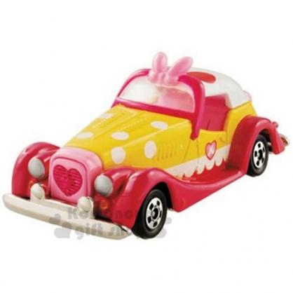 〔小禮堂〕迪士尼 米妮 TOMICA小汽車《DMA05.紅黃》10週年紀念.公仔.模型.玩具