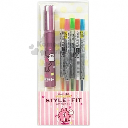 〔小禮堂〕卡娜赫拉 盒裝多色原子筆《粉》5色筆.多色筆.自動筆.三菱UNI