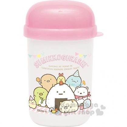 〔小禮堂〕角落生物 日製方形毛巾附罐《粉白.野餐》35x28cm.手帕.毛巾罐