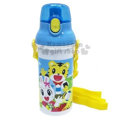 〔小禮堂〕巧虎 直飲式水壺附背帶《藍白.踏青》480ml.水瓶.隨身瓶.兒童水壺
