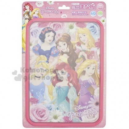 〔小禮堂〕迪士尼 公主 日製方型塑膠砧板《粉.角色》菜砧.托盤