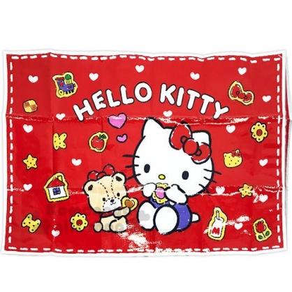〔小禮堂〕Hello Kitty 單人野餐墊《紅.吃餅乾》60x90cm.防塵墊