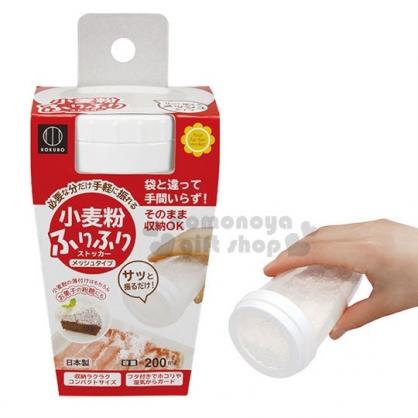 〔小禮堂〕小久保工業所 日製透明塑膠灑粉罐《白》200ml.糖粉罐