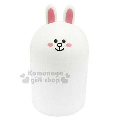 〔小禮堂〕Line friends 兔兔 桌上型造型無蓋垃圾筒《白》紙屑筒.收納筒