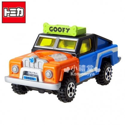 〔小禮堂〕迪士尼 高飛狗 TOMICA小汽車《橘藍.造型吉普車》DM-13經典造型值得收藏