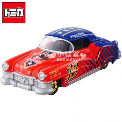 〔小禮堂〕迪士尼 米奇 TOMICA小汽車《紅.經典跑車》DM-16經典造型值得收藏