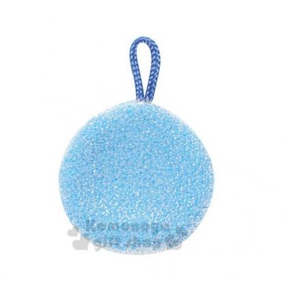 〔小禮堂〕日本NICOTT 圓形洗手台清潔海綿 《藍》清潔刷.廚房清潔
