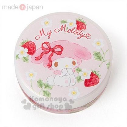 〔小禮堂〕美樂蒂 日製圓盒香氛護手霜《粉.草莓》玫瑰香.護手乳.手部保養