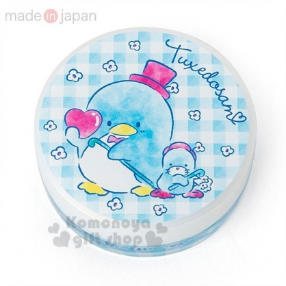 〔小禮堂〕山姆企鵝 日製圓盒香氛護手霜《亮藍.格紋》玫瑰香.護手乳.手部保養
