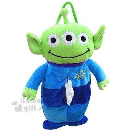 〔小禮堂〕迪士尼 三眼怪 造型絨毛吊掛面紙套《綠藍.全身》衛生紙套.抱枕.玩偶