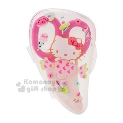 〔小禮堂〕Hello Kitty 嬰兒食物剪刀附盒《粉.糖果》兒童餐具