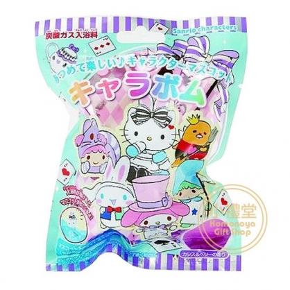 〔小禮堂〕Sanrio大集合 造型入浴球《6款隨機.綠紫.愛麗絲》入浴劑.泡澡球
