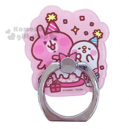 〔小禮堂〕卡娜赫拉 造型壓克力手機指環架《粉.慶生》立架.指環扣