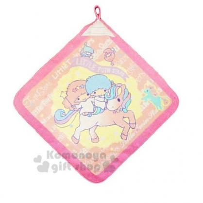 〔小禮堂〕雙子星 可掛式棉質擦手巾《粉黃.騎獨角獸》34x34cm.毛巾