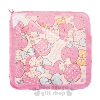 〔小禮堂〕美樂蒂 可掛式棉質擦手巾《粉黃.草莓》34x34cm.毛巾
