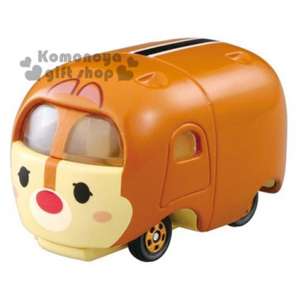 〔小禮堂〕迪士尼 TSUM TSUM 蒂蒂 TOMICA小汽車《淺棕.可堆疊》經典造型值得收藏