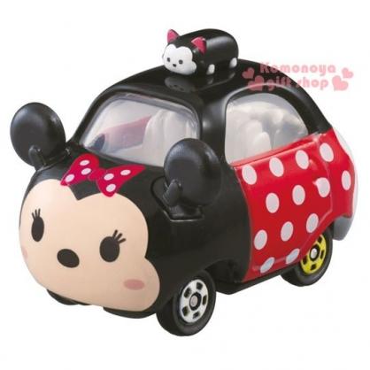 〔小禮堂〕迪士尼 TSUM TSUM 米妮 TOMICA小汽車《黑紅.朋友.DMT-04.頂端款》經典造型值得收藏