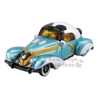 〔小禮堂〕迪士尼 米奇 TOMICA小汽車《綠白.老爺車》10週年紀念版.公仔.玩具.模型