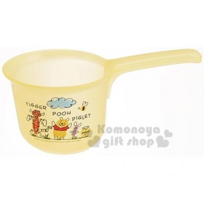 〔小禮堂〕迪士尼 小熊維尼 塑膠透明小水瓢《黃.插圖》水杓.水勺