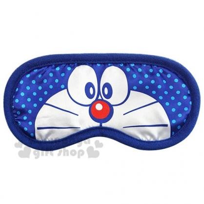 〔小禮堂〕哆啦A夢 尼龍旅行用眼罩《深藍.半臉》居家.旅行