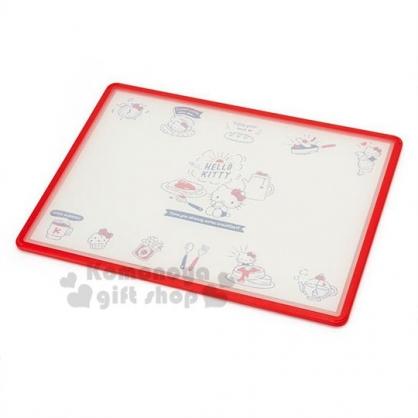 〔小禮堂〕Hello Kitty 日製雙面方形塑膠砧板《紅白》菜砧.托盤.2019新生活系列