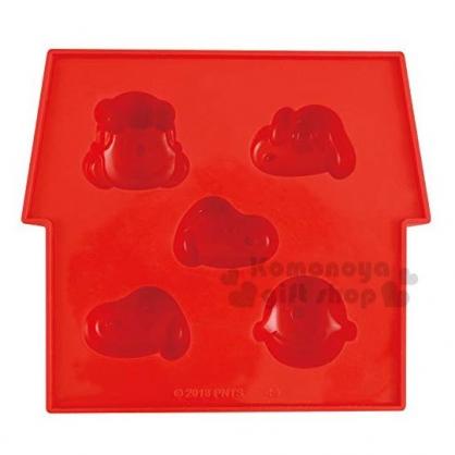 〔小禮堂〕史努比 造型矽膠製冰模《紅.大臉》餅乾模.冰模.巧克力模