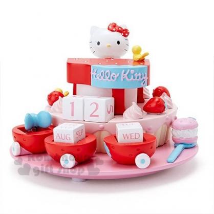 〔小禮堂〕Hello Kitty 立體造型萬年曆《粉紅》月曆.日曆.擺飾.莓好時光系列