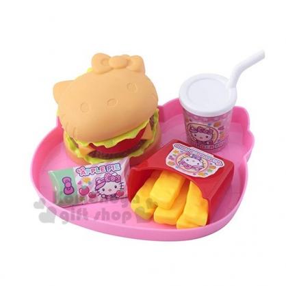 〔小禮堂〕Hello Kitty 漢堡薯條速食玩具組《粉.泡殼裝》扮家家酒.兒童玩具