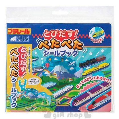 〔小禮堂〕日本銀鳥 鐵路磁鐵遊戲書《藍.列車》益智遊戲.兒童玩具