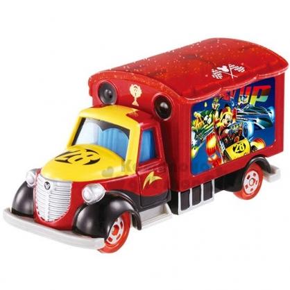 〔小禮堂〕迪士尼 米奇 TOMICA小汽車《紅黃.宣傳車》公仔.玩具.模型