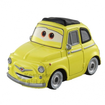 〔小禮堂〕迪士尼 閃電麥坤 TOMICA小汽車《C-12.黃.轎車》公仔.玩具.模型