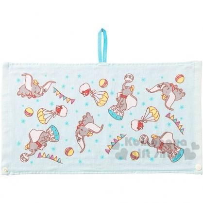 〔小禮堂〕迪士尼 小飛象 兒童棉質擦手巾《淺藍.馬戲團》25x47cm.圍兜.擦嘴巾.毛巾