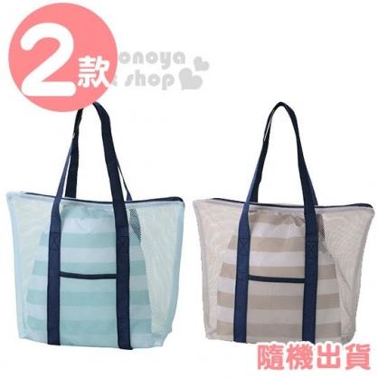 〔小禮堂〕尼龍網狀手提洗衣袋束口袋組《2款隨機.綠/灰》旅行袋.衣物袋.盥洗袋