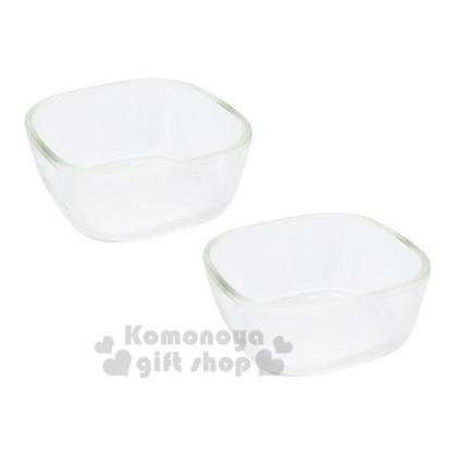 〔小禮堂〕日本HARIO 日製方形耐熱玻璃碗組《2入.透明》保鮮盒.食物盒.水果盒.飯碗