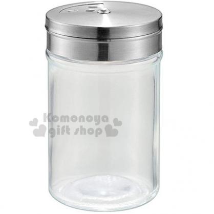 〔小禮堂〕迷你不鏽鋼蓋玻璃調味罐《銀蓋》80ml.鹽罐.胡椒罐