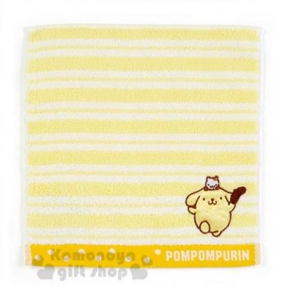 〔小禮堂〕布丁狗 棉質小方巾《黃白.條紋.廚師》20x20cm.手帕.毛巾